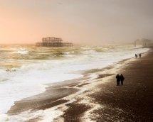 West pier waves