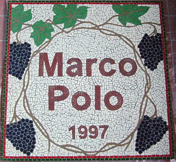 Marco Polo Italian Restaurant, Driffield floor entrance mosaic commission