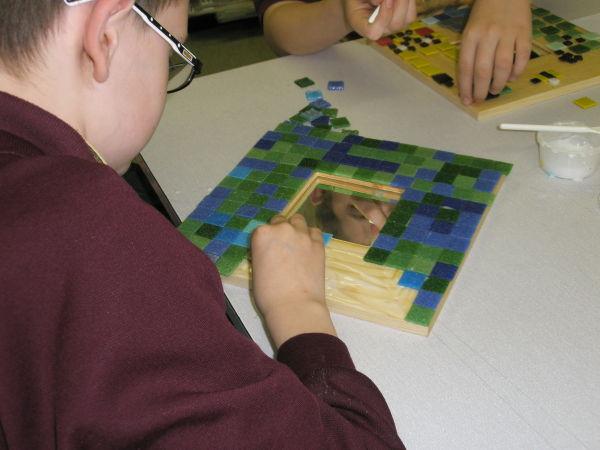 Mosaic a mirror school mosaic
