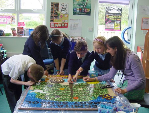 School mosaic - work in progress