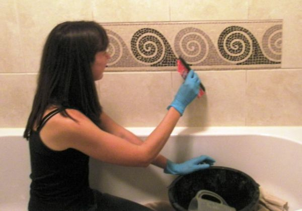 Private Bathroom Mosaic Commission