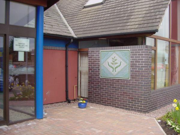 Trafford Macmillan Care Centre Hope mosaic commission in situ