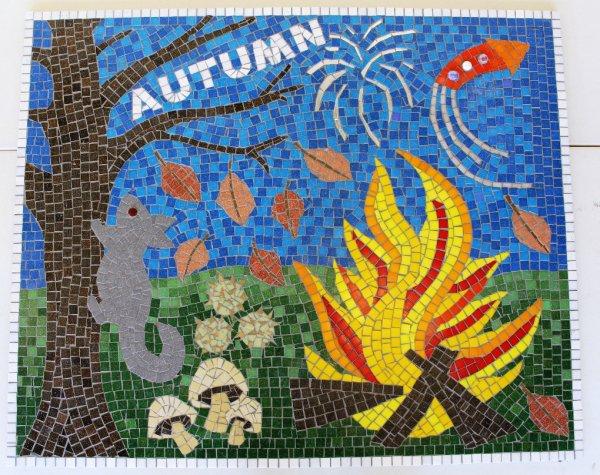 Autumn School Mosaic