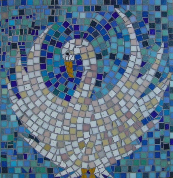 Swan school mosaic