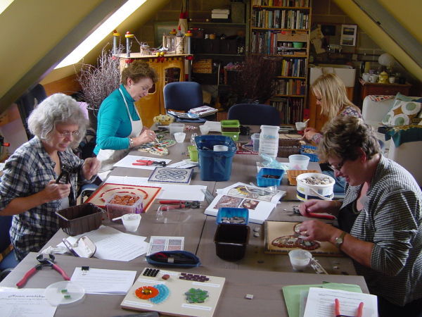 Mosaic workshop at the Old Blacksmith's Shop, North Yorkshire