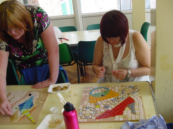 After school activity with parents and children at Wansbeck Primary School, Hull