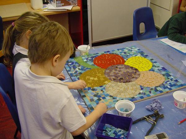 Flower school mosaic