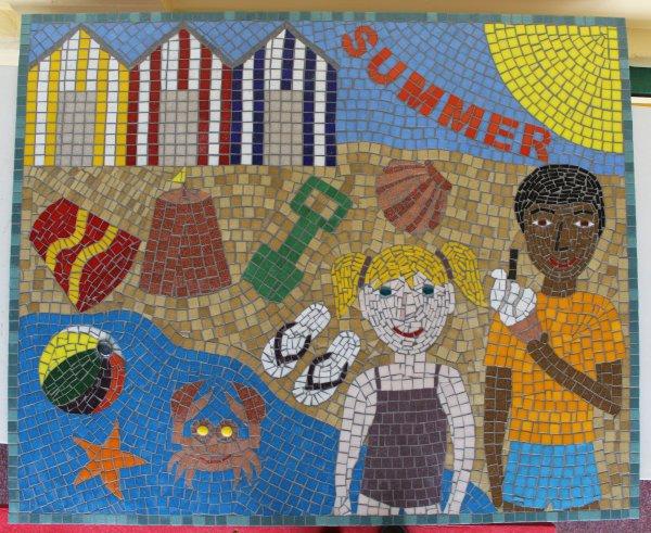 Four seasons school mosaic