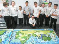 World map school mosaic