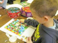 Mosaic a mirror in school
