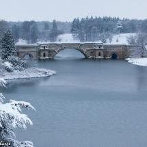 Blenheim Bridge snowscape