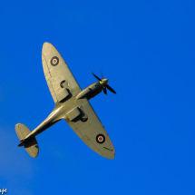 Spitfire on blue