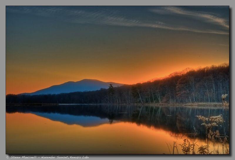 November Sunset, Kenozia Lake
