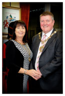 The Mayor (Cllr Arthur Hookway) and Mayoress (Mrs Sue Hookway)