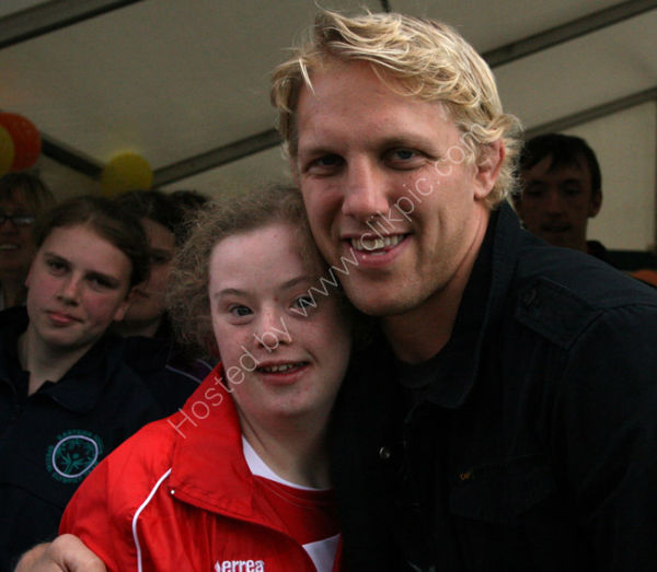Louis Moody (Leicester Tigers) and Athletes 3