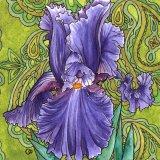 Nouveau Paisley Iris