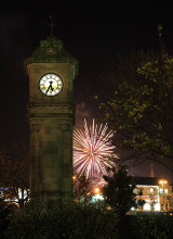 Fireworks at the McKee Clock