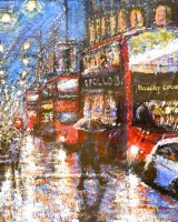 Christmas Shopping, London.