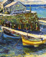 Sennen Cove fishing boats