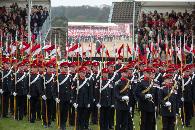 Lancers On Parade By Frank Devine
