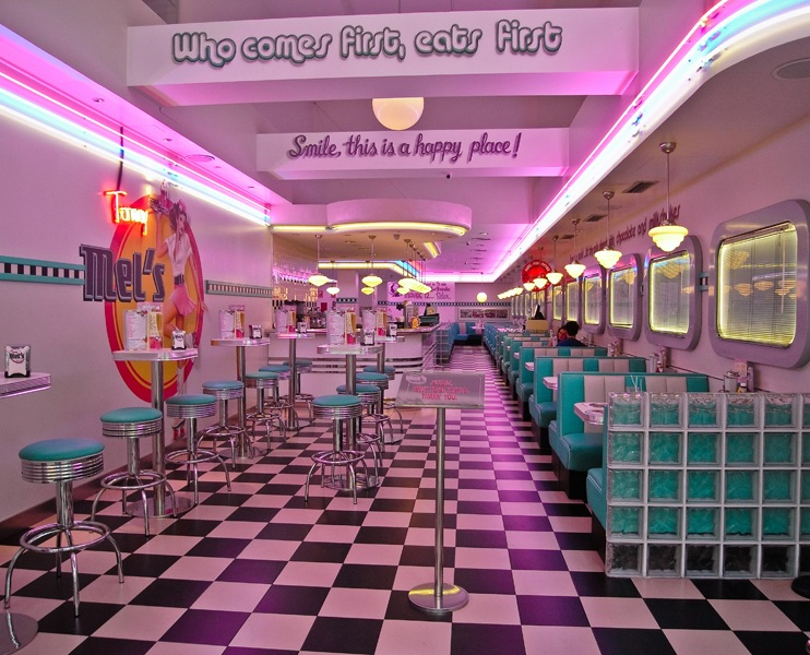 Mel's Cafe by Phil Harris