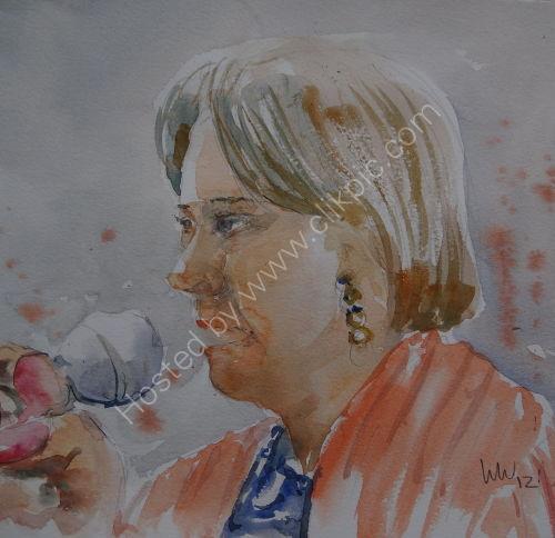 Frances Lee at Burgundy's 8 March 2012