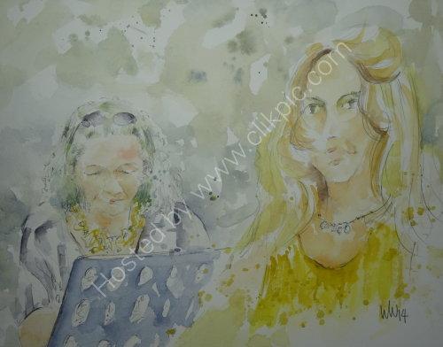Jilly Jarman & Gail Bashall, Burgundy's, 26 June 2014