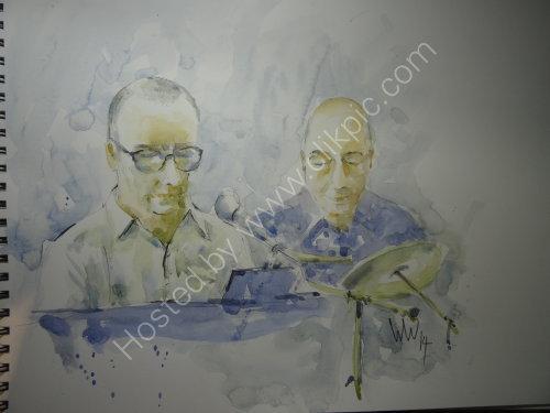 Peter Major & Peter Boocock, Burgundy's, Kendal, 14 August 2014