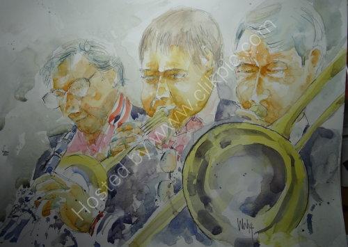 Les Bull Jazz Band, Burgundy's, Kendal, 13 Nov 2014