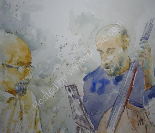 Freddie Garner & Frank Grime of the Freddie Garner Quartet, 4 Dec 2014