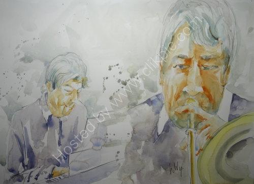 Vinnie Parker & ? of the Les Bull Band11 Dec 2014