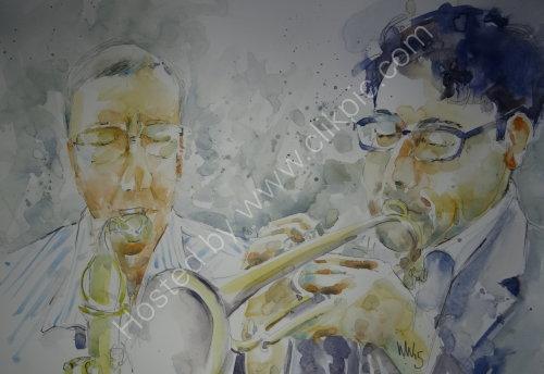 Paul Palmer & Geoff Bartholomew of Paul Palmer Quintet on 26 Feb 2015