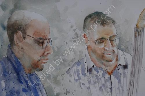 Gary Boyle & Dave Turner of Tim Franks Quartet on 23 April 2015