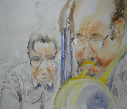 Steve Simpson & Jon Moreman of the Paul Palmer Quartet on 28 Jan 2016
