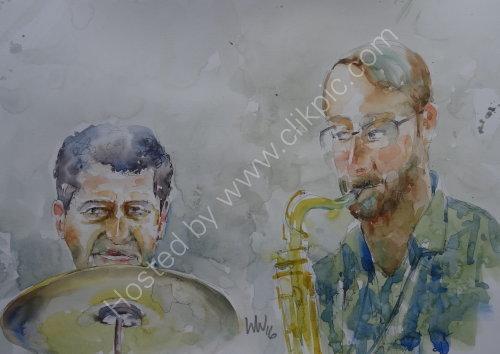 Tim Franks & Kyran Matthews of Steve Oakes Quartet on 6 Oct