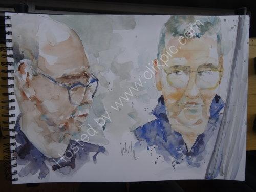 Gary Boyle & Dave Turner of the Tim Franks Quartet, 20 Oct 2016