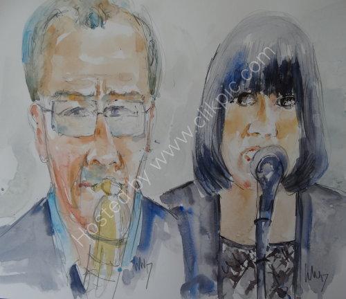 Paul Froggatt & Emma Williams of Boogey Bill's Billionaires on 20 April 2017