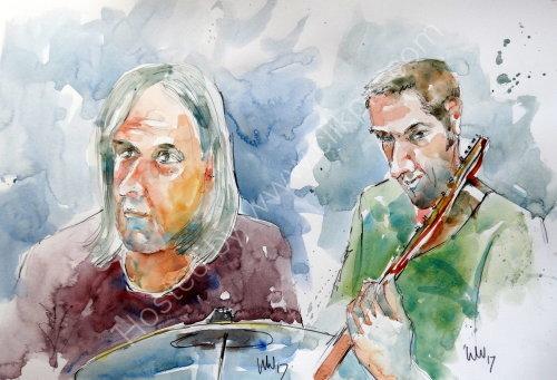Roger Hartley & Sam Dale at Zeferelli's Ambleside in June 2017