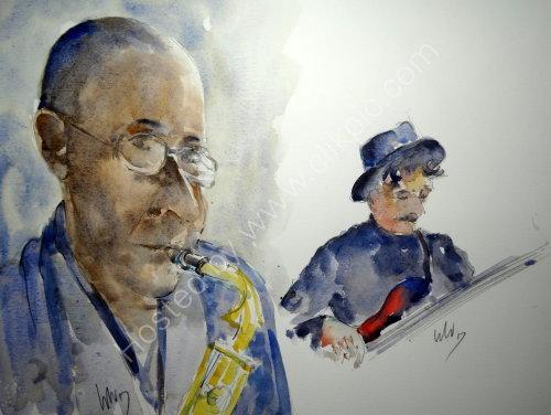 WEd Kainyek & John Sandeman of the Steve Oakes Quartet