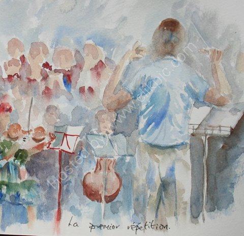 La premier repetition, St Blaise du Buis, 2010