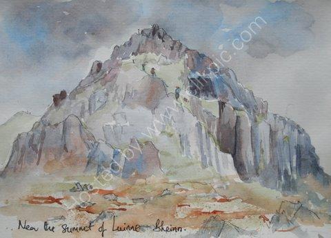 Near the summit of Luinne Bheinn, Knoydart