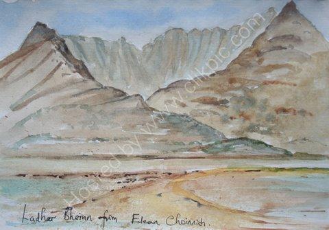 Ladhar Bheinn from Eilean Choinnich