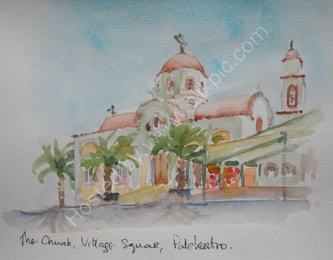 The Church, village square, Palekastro, Crete