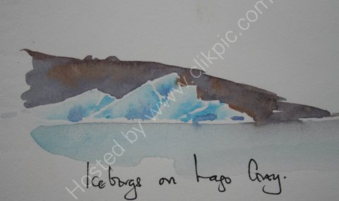 Icebergs on Largo Grey, Patagonia