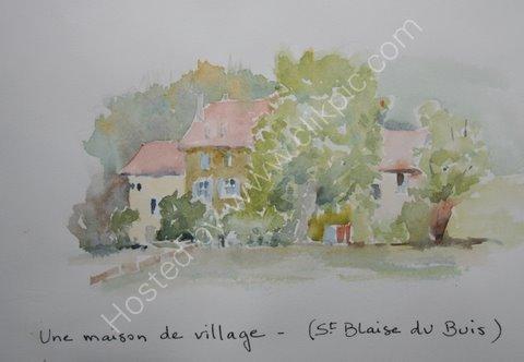 Une maison de village, St Blaise du Buis. 2005