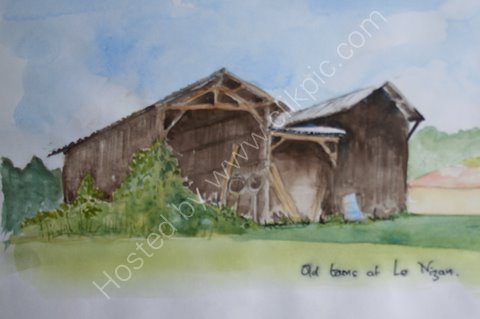 Old barns, near Le Nizan