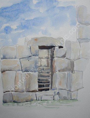 The walls of Sacsayhuaman, near Cusco, Peru