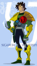 Animated Strontium Dog Character