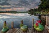 Sunset Inle Lake