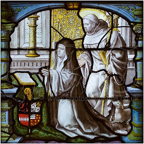 Abbess and St Bernard